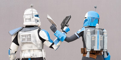 Captain Rex and Bo-Katan Cross Blasters