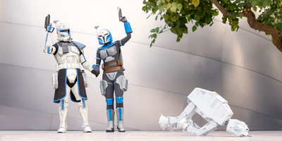 Captain Rex and Bo-Katan Destroy AT-AT