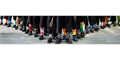 Amazing Groomsmen Sock Details at Pasadena Wedding