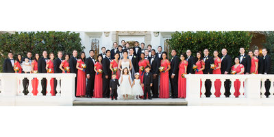 Crazy Huge Wedding Party Photograph in Pasadena