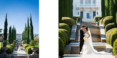 Mansion Pathway Bride & Groom
