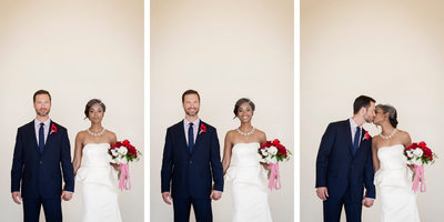 Signature Triptych of Bride and Groom at Terranea