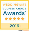 WeddingWire Couple's Choice Award 2016