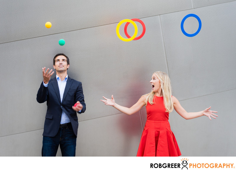 Juggling Couple at Walt Disney Concert Hall