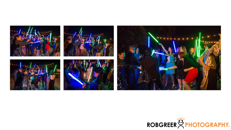 Light Saber Dancing at Wedding Reception