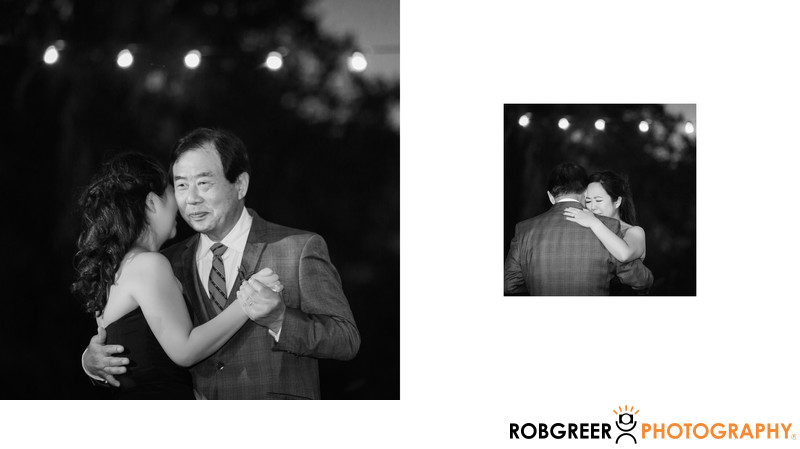 Father and Daughter Dance during Wedding Reception