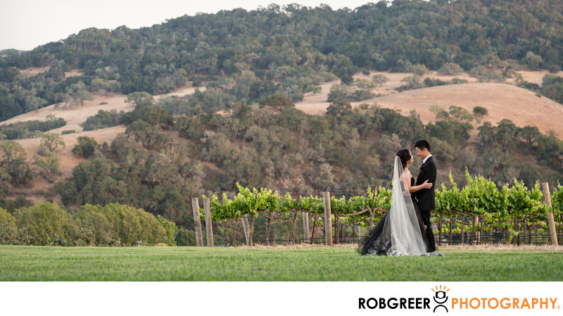 Wedding Couple with Wine Country Hills