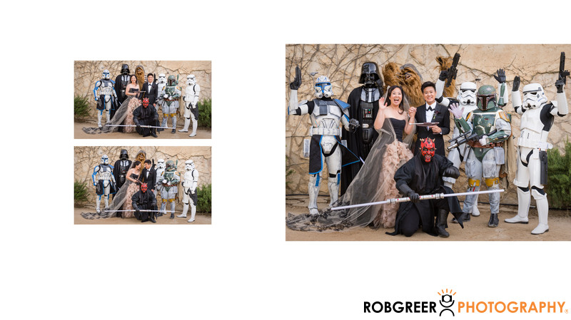 Full Star Wars Wedding Day Cast