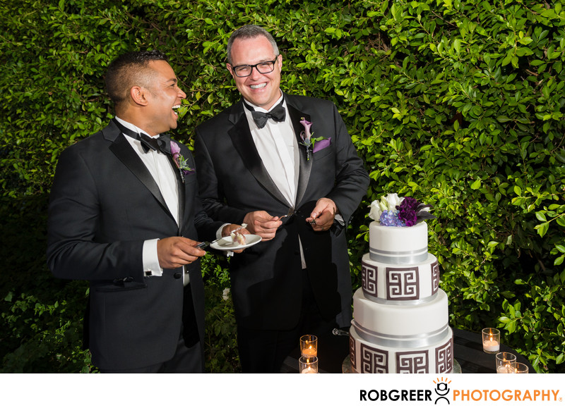 Gay Couple Cut Wedding Cake at Riviera Palm Springs
