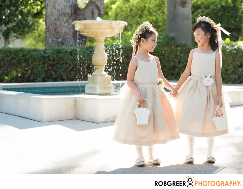 Flower Girls at Pasadena Museum of History
