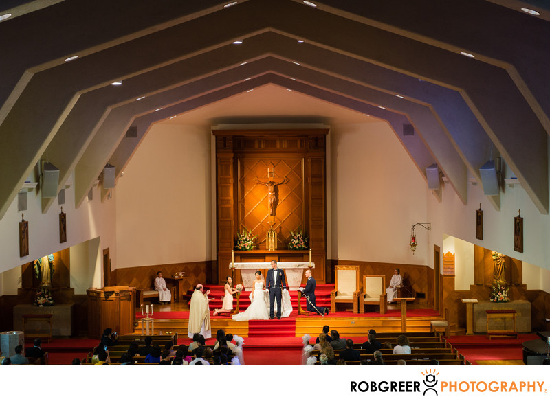 Holy Angels Church Wedding Ceremony Photographer