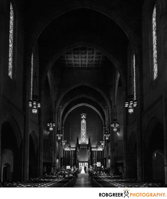 First Congregational Church Wedding Photographer