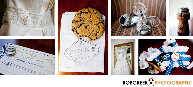 Wedding Details at the LA Hotel Downtown Los Angeles
