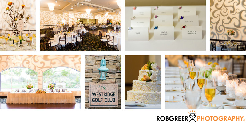 Westridge Golf Club Wedding Reception Details & Decor