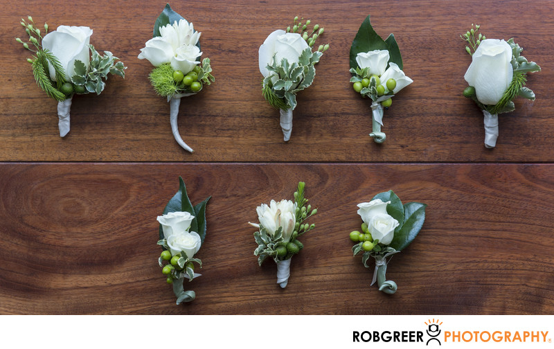Boutonniere Details at Beverly Hills Wedding