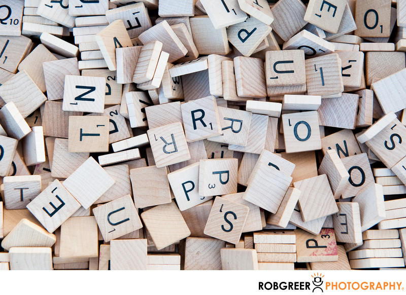 Plain Wooden Scrabble Tiles