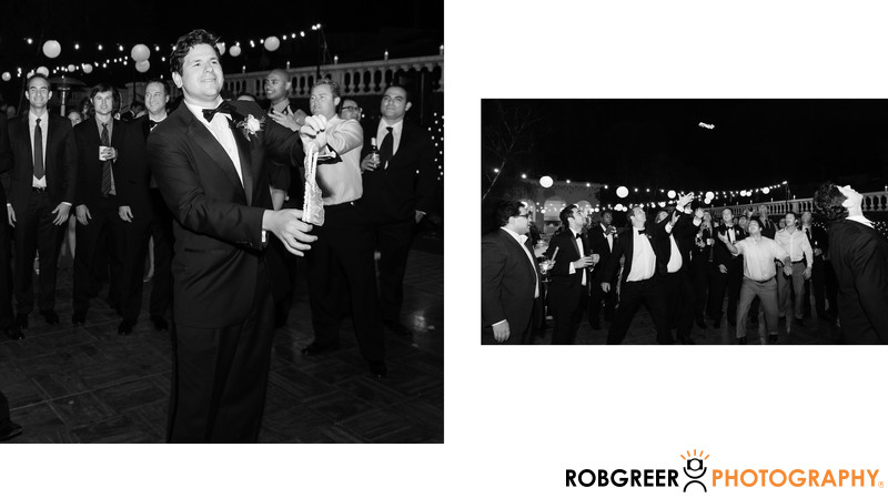 Reception Garter Toss at Ambassador Mansions