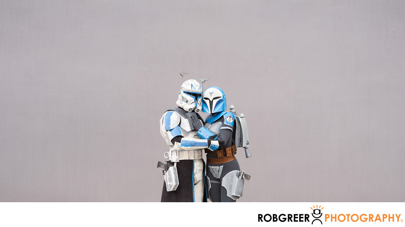 Captain Rex and Bo-Katan Loving Embrace