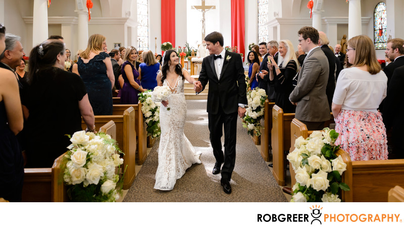 Wedding Ceremony Recessional at Good Shepherd Church