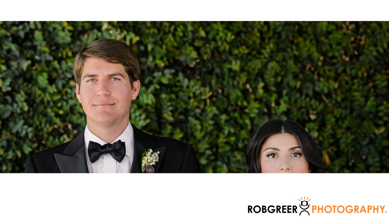Quirky Portrait of Bride & Groom at SLS Hotel