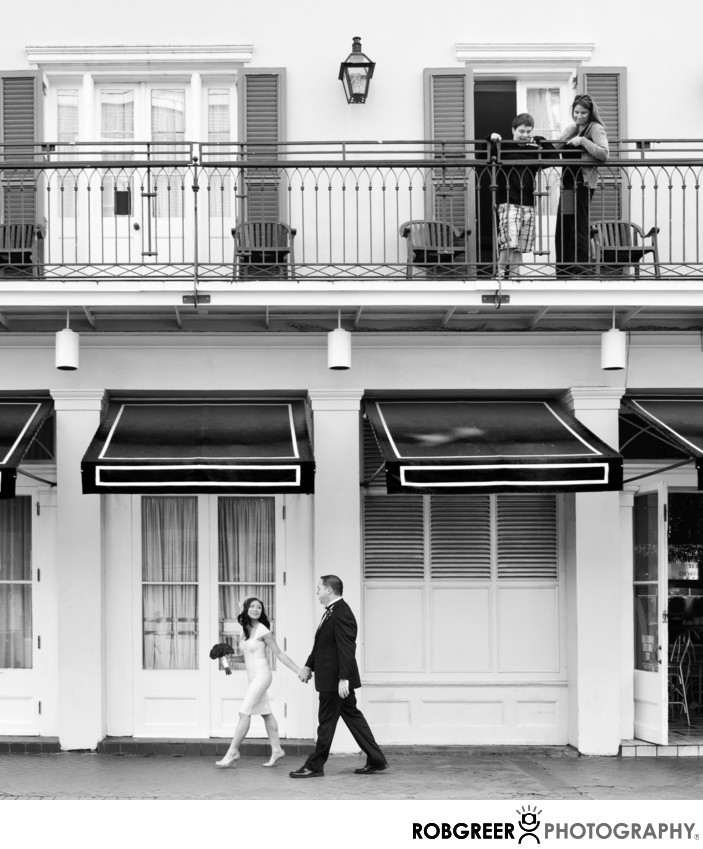 Upstairs Observers at French Quarter Wedding