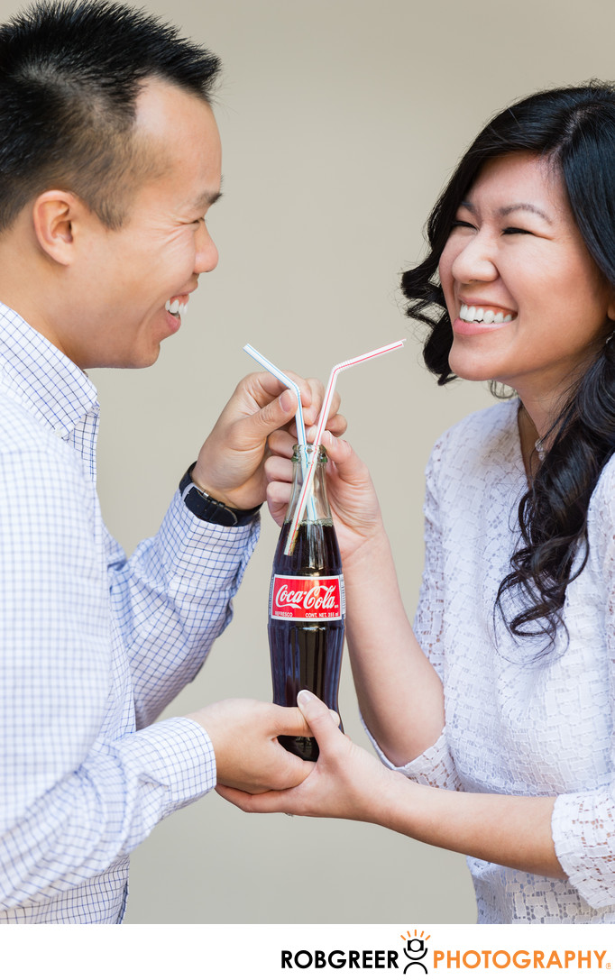 Coke Is the Real Thing for This Engaged Couple