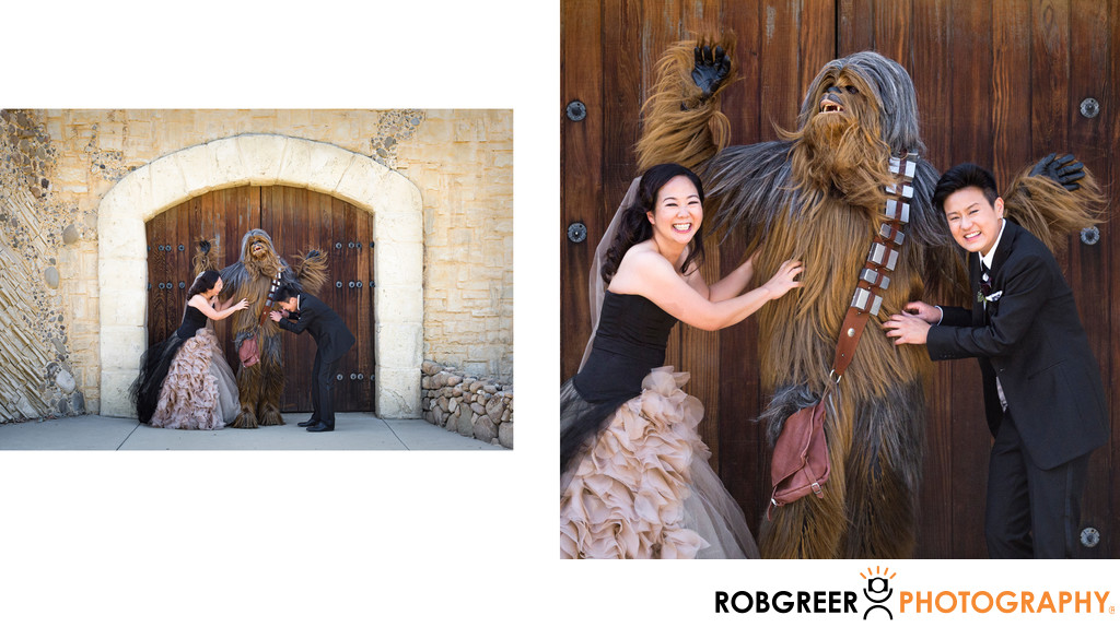 Same Sex Couple Tickles Chewbacca