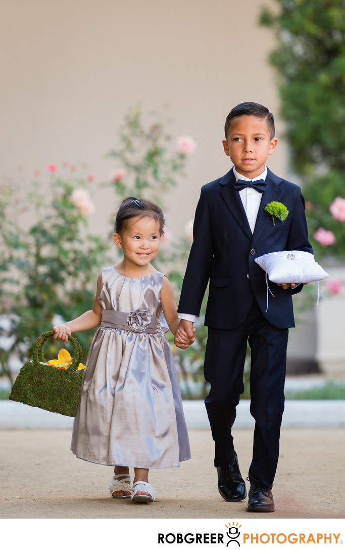 Ring Bearer & Flower Girl at Pasadena City Hall Wedding