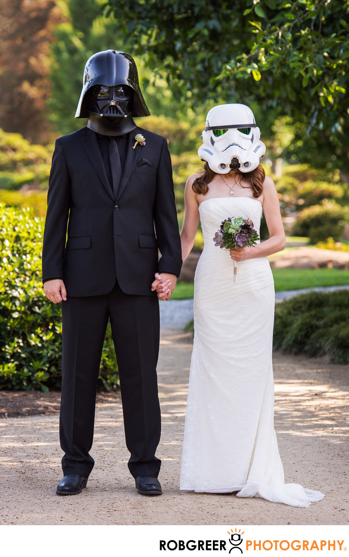 Star Wars Japanese Garden Wedding Photography