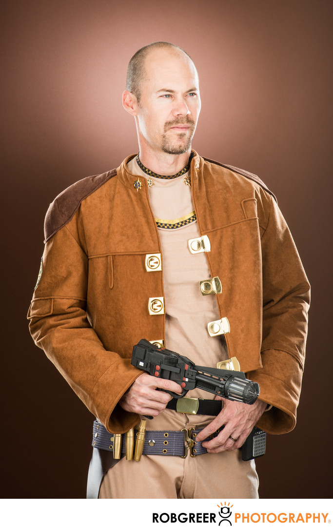 Eric Olds, Colonial Warrior with Blaster
