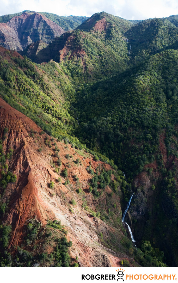 Aerial View of Waimea Canyon
