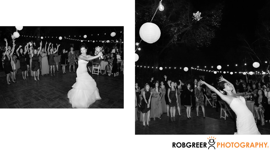 Reception Bouquet Toss