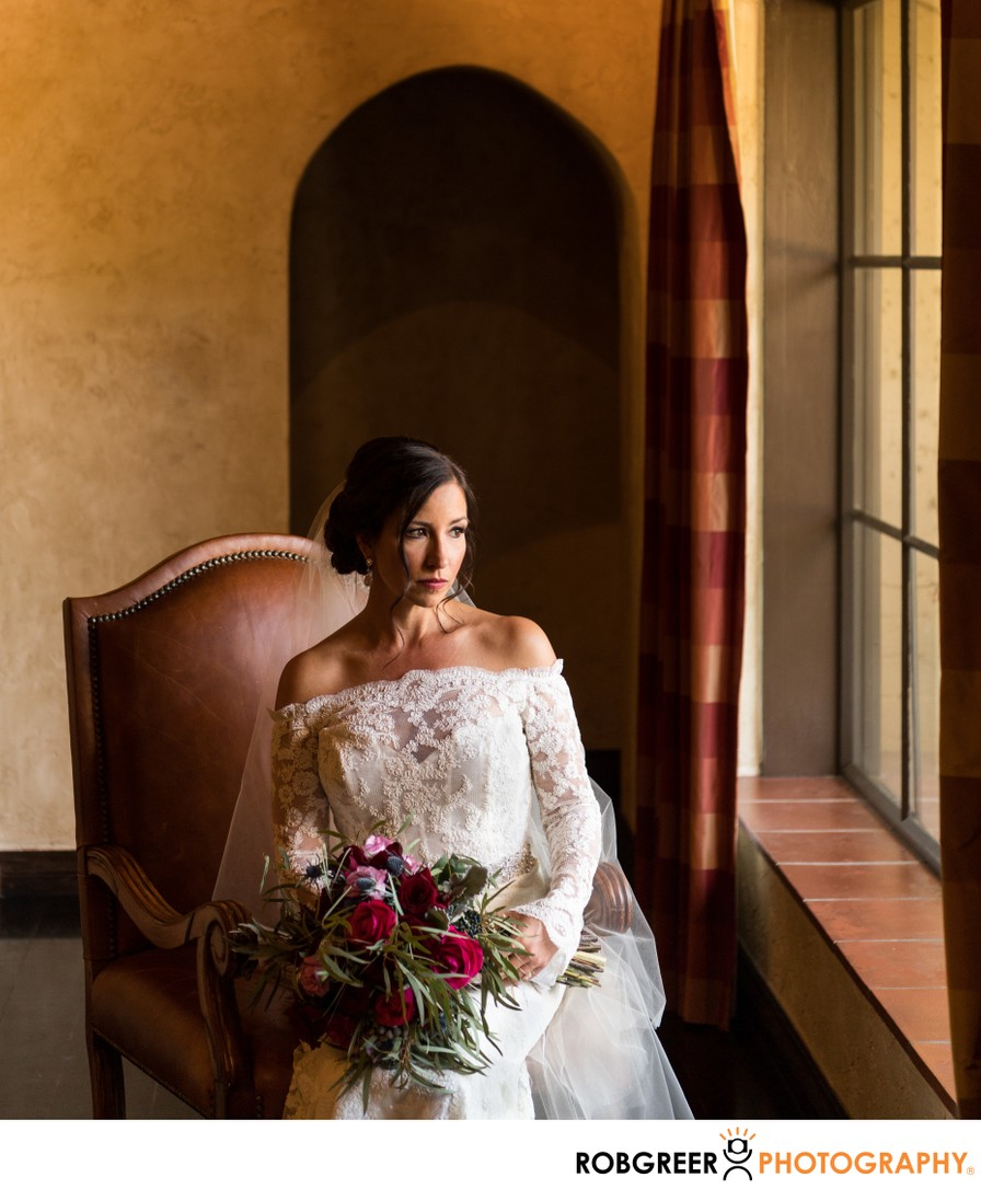 Bridal Portrait: Window Seat