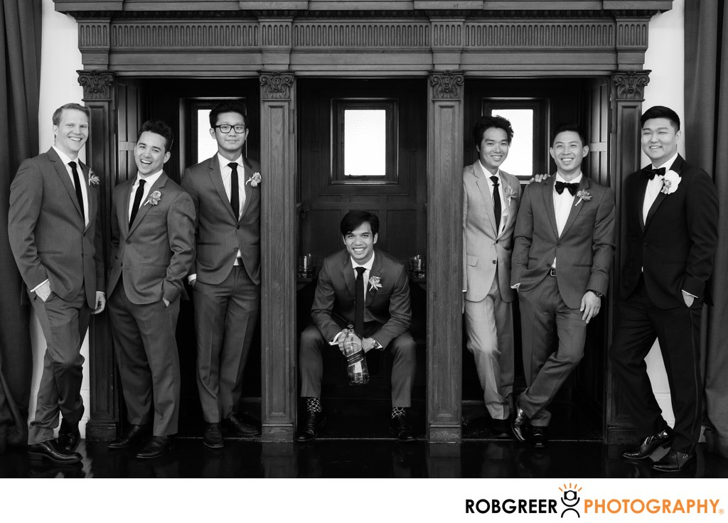 Groomsmen Portrait: Hanging Out