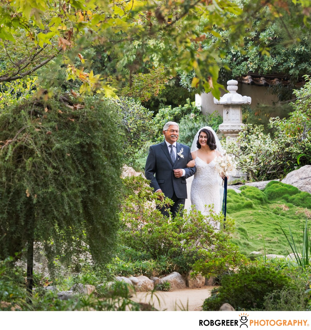 Bride Processional: Garden Wedding