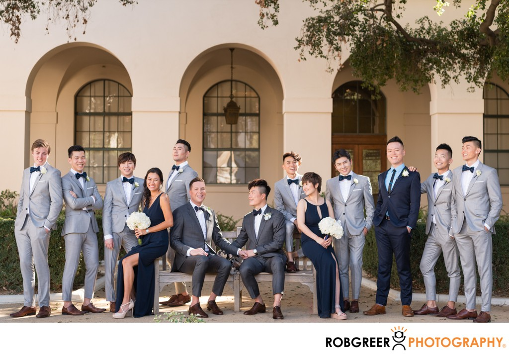 Modern Wedding Party Portrait: Group