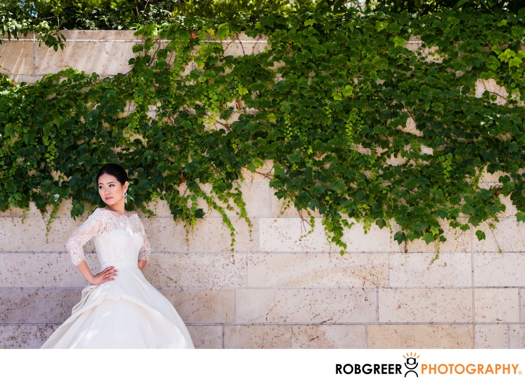Bridal Portrait: Park Ivy Wall