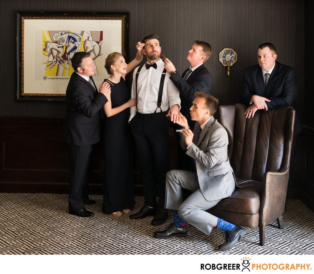 Quirky Groom's Party: Conceptual Portrait