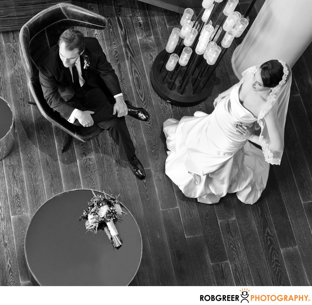 Above Couple: Stylish Wedding Portrait