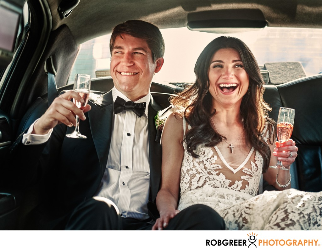 Bride & Groom: Limo Ride Celebration