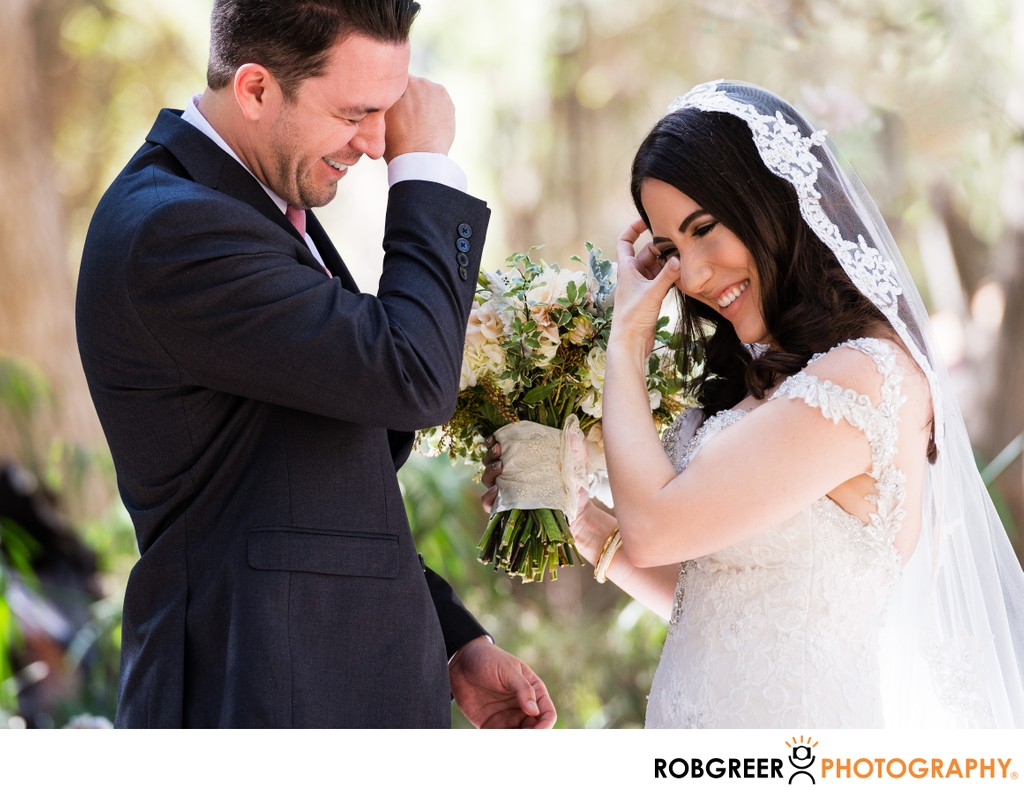 Bride & Groom Crying: First Glance