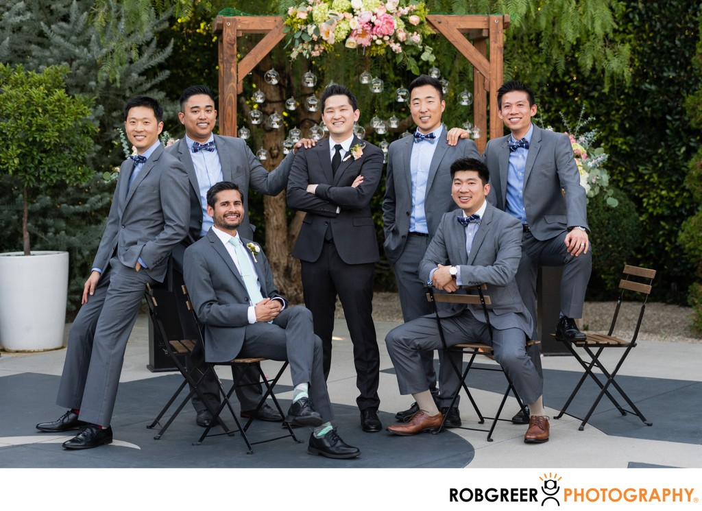 Outdoor Wedding Portrait: Groomsmen