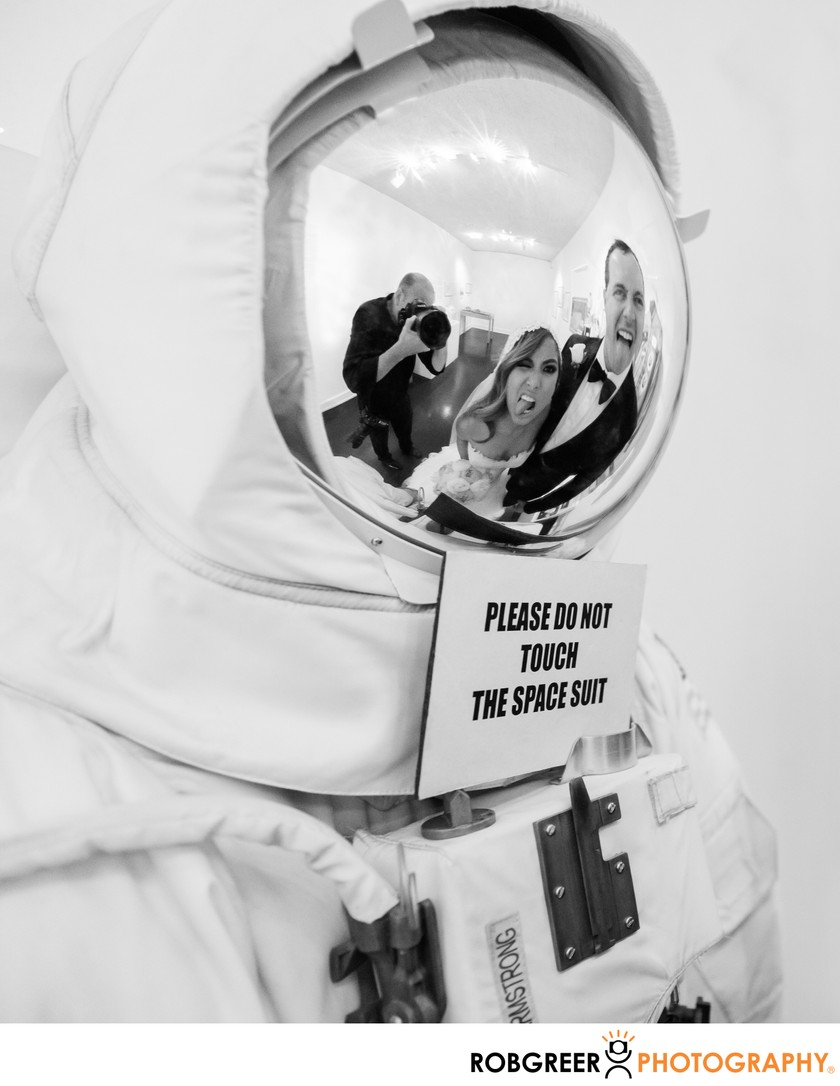 NASA Wedding: Armstrong Space Suit