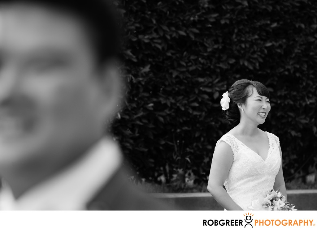 Bridal Portrait: Foreground Groom