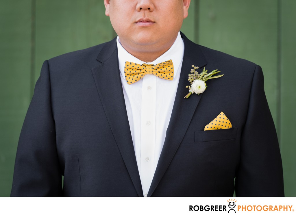 Groom's Details: Boutonniere & Bow Tie