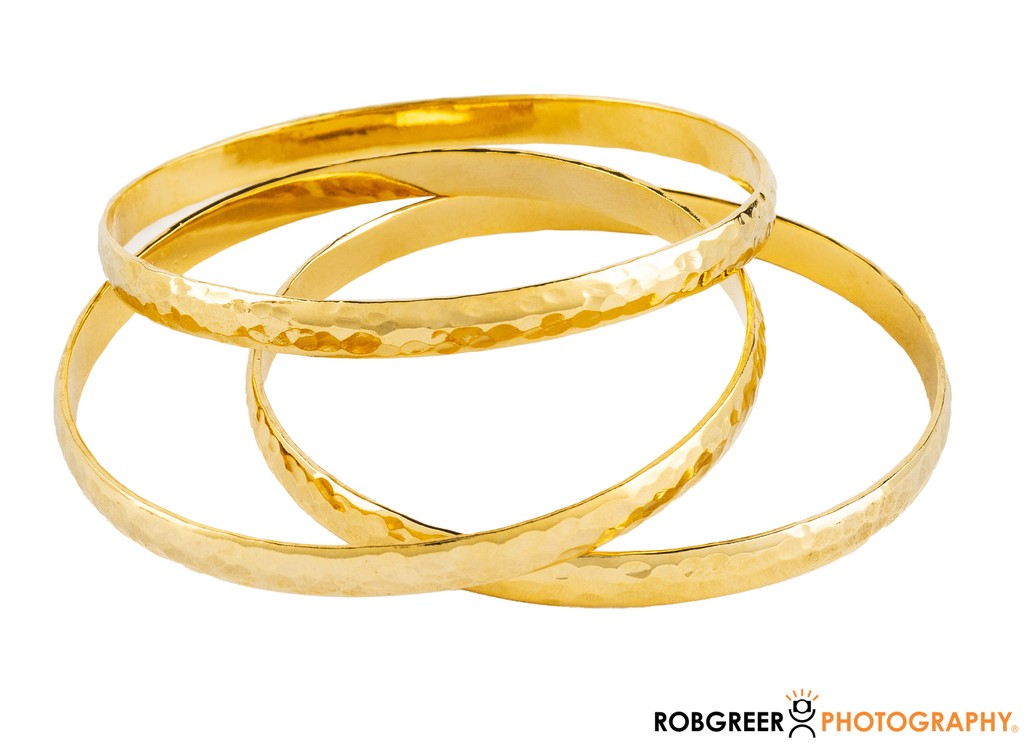 Jewelry Photography: Gold Bracelets