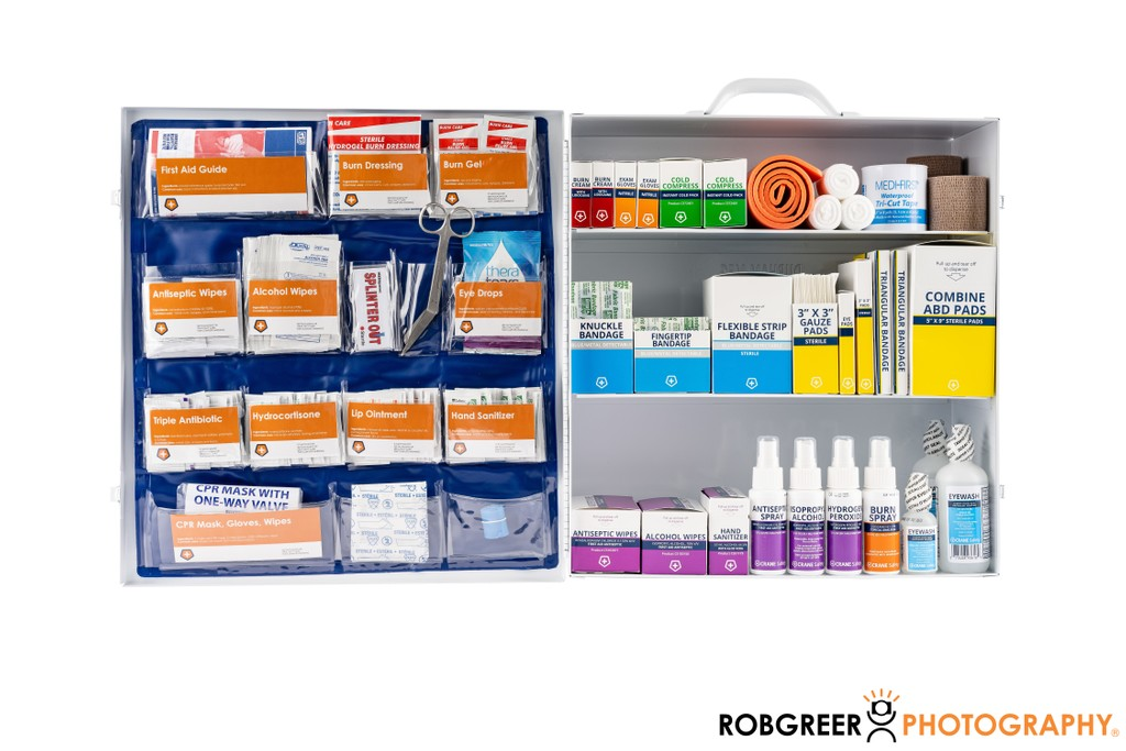 First Aid Supplies: Product Photography
