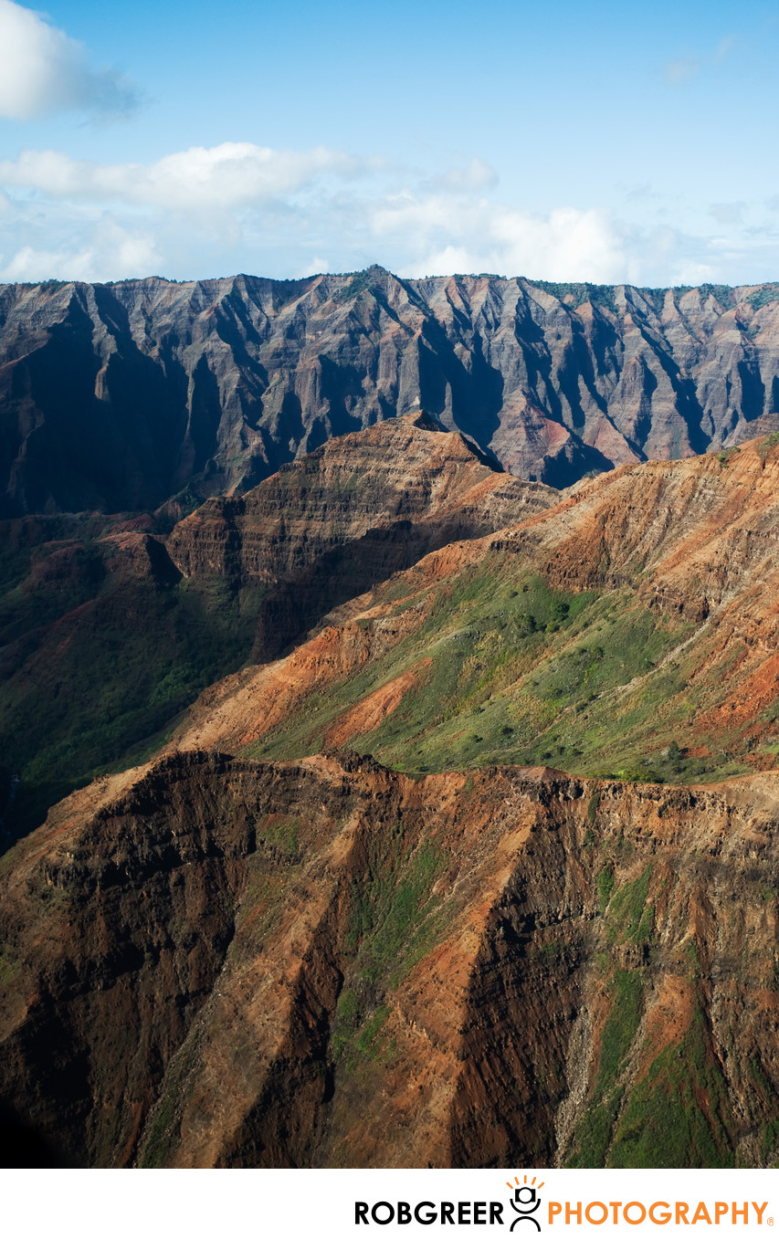 Variations in Color at Waimea Canyon State Park Kauai