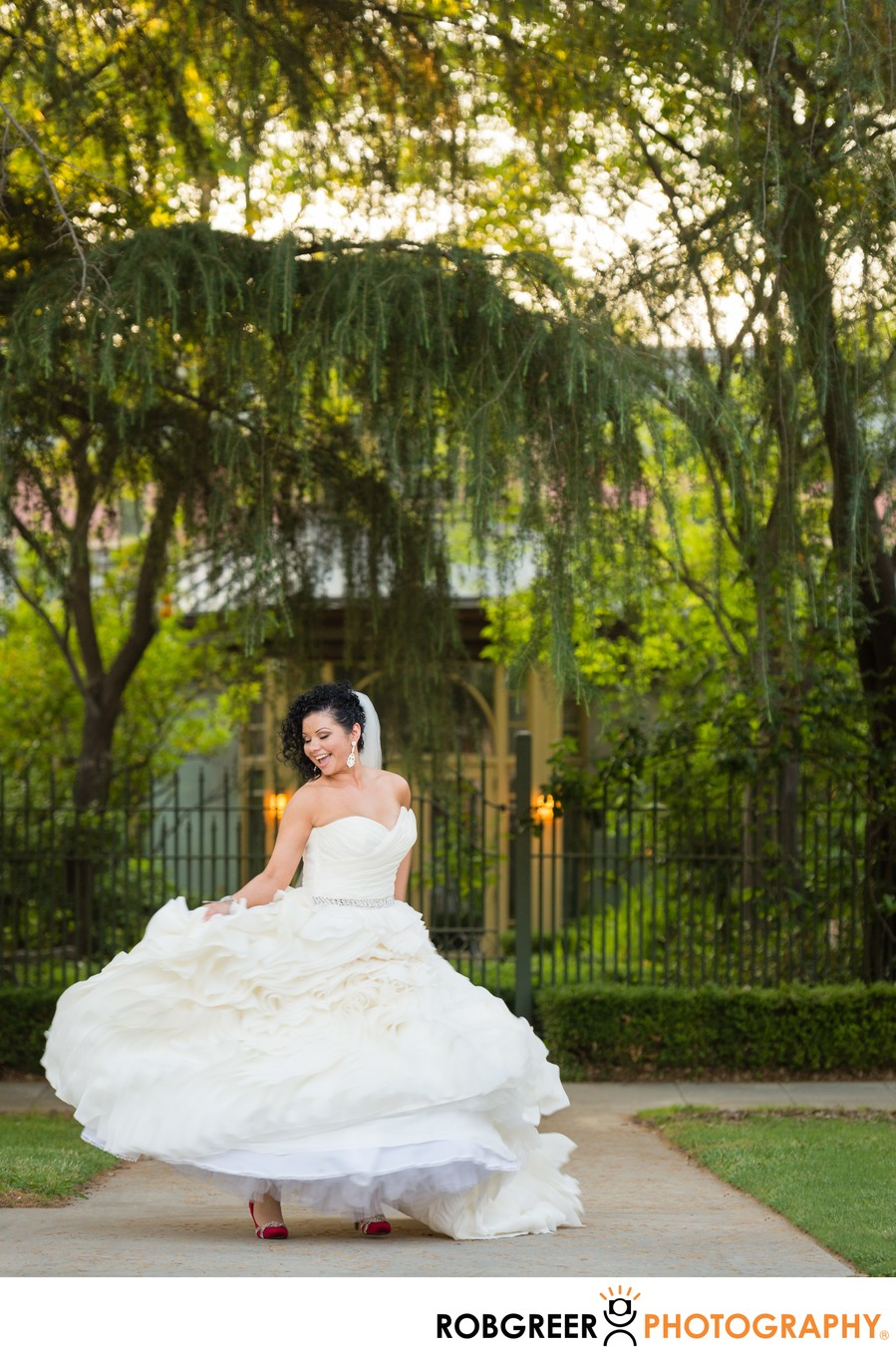 Bride Twirls Wedding Dress