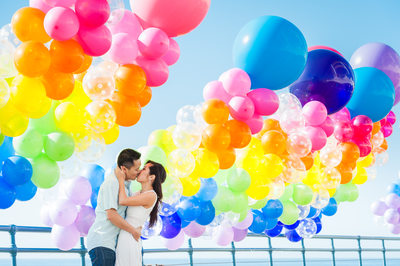 Engagement Portrait Balloons